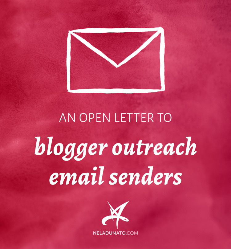 An open letter to blogger outreach email senders nela dunato art an open letter to blogger outreach email senders altavistaventures Gallery