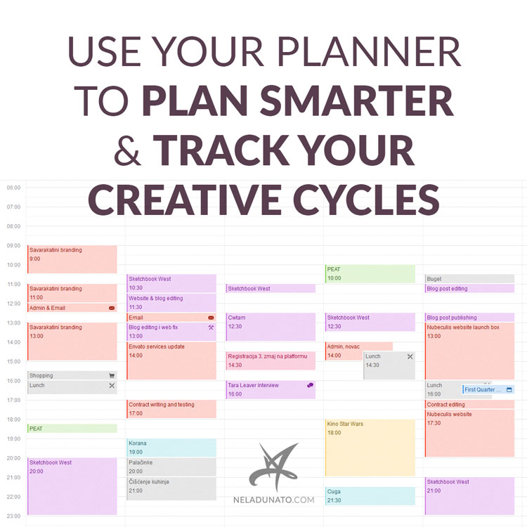 Use your planner to plan smarter & track your creative cycles