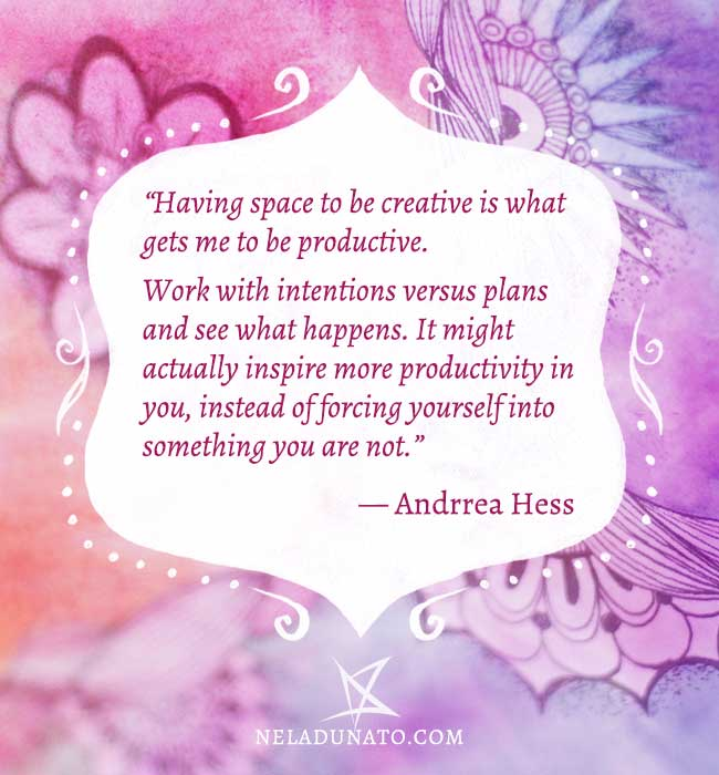 Plans versus intentions quote by Andrrea Hess