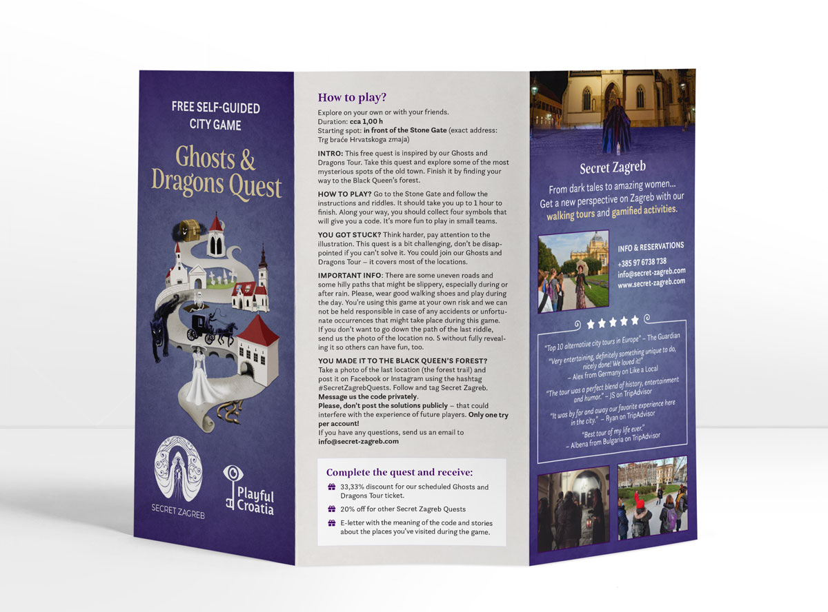 Ghosts and Dragons Quest flyer