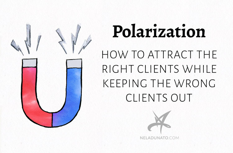 Polarization: How to attract the right clients, while keeping the wrong clients out