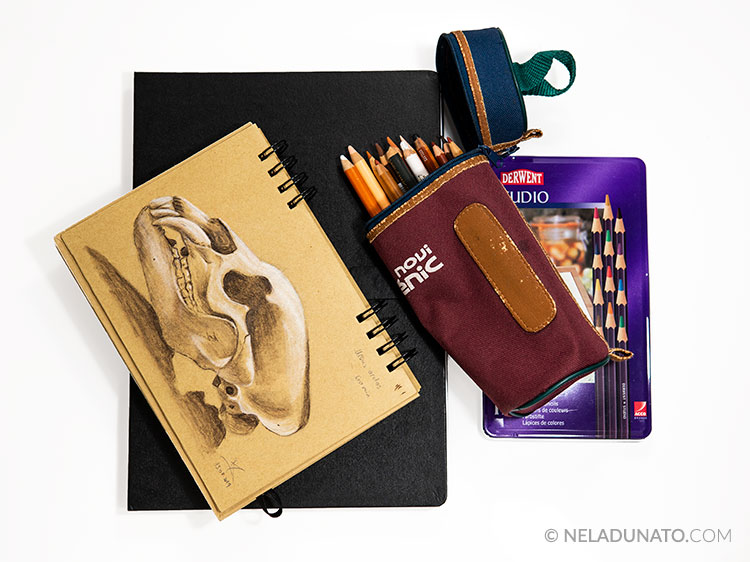 Portable study sketching kit