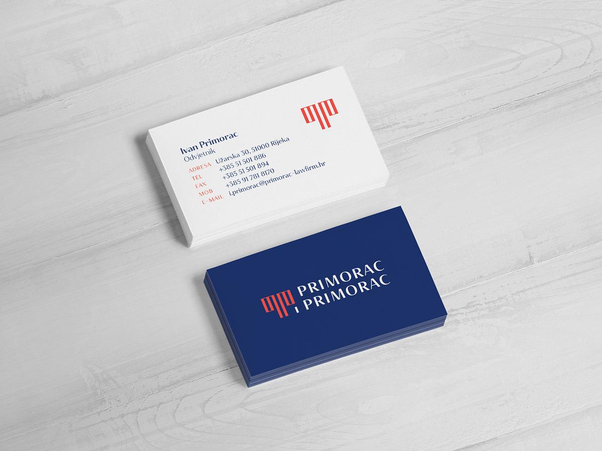 Law firm brand identity - business cards design