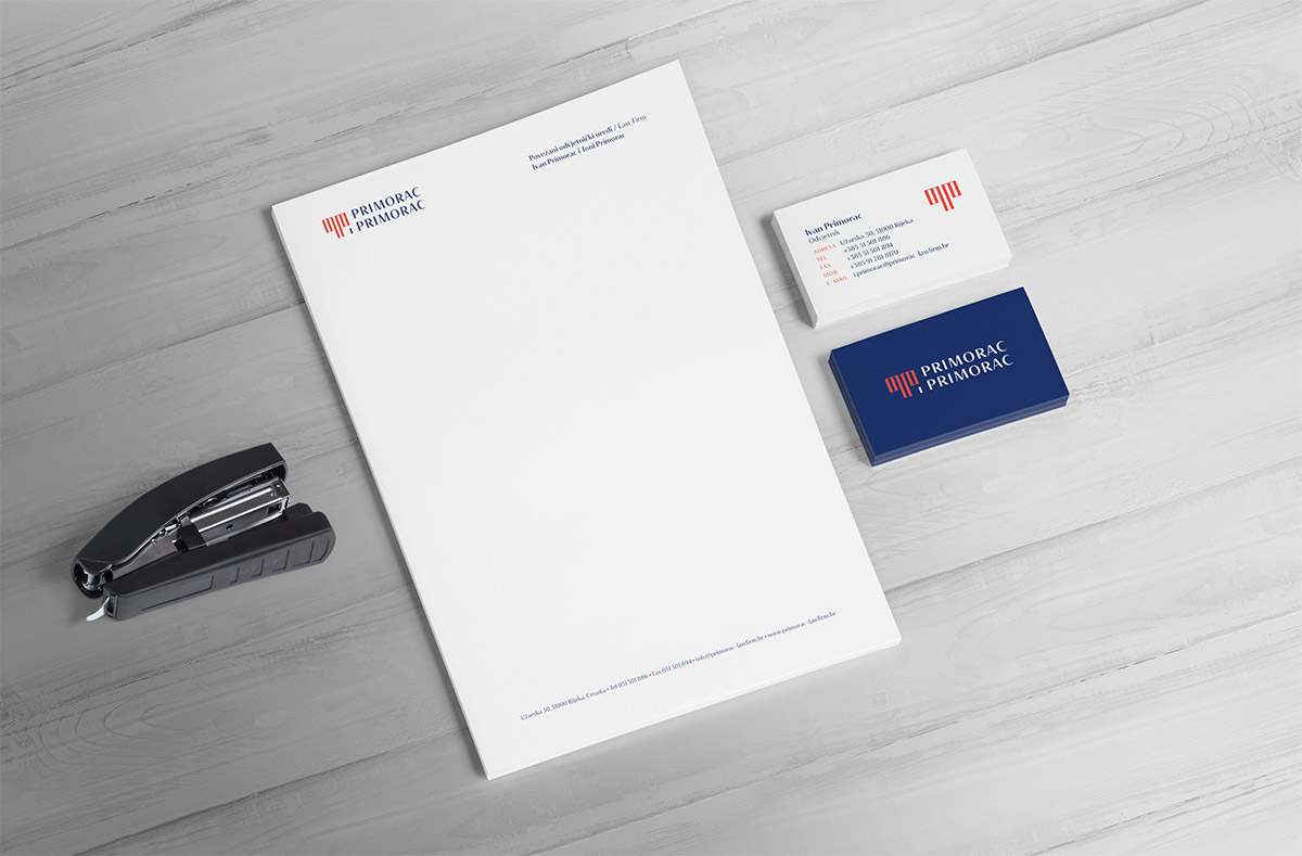 Law firm brand identity - letterhead and business cards design