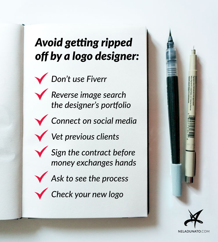 How to avoid getting ripped off by a logo designer