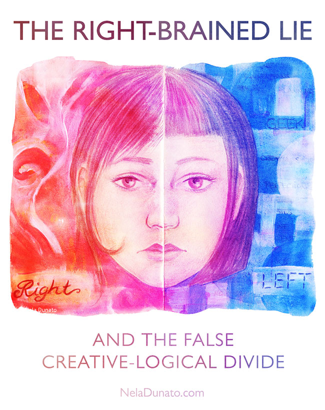 The right-brained lie (and the false creative-logical divide)