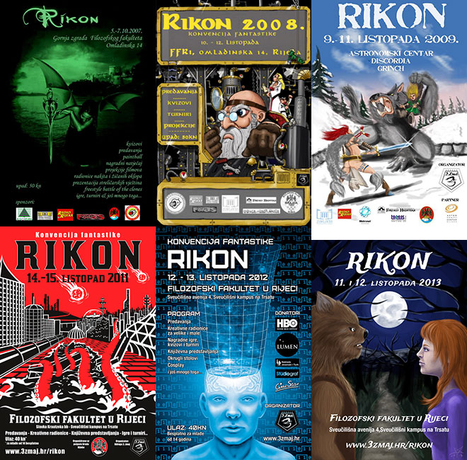 Rikon convention posters over the years