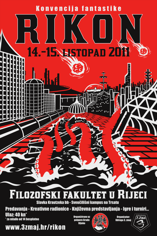 Rikon 2011 poster for a sci-fi convention