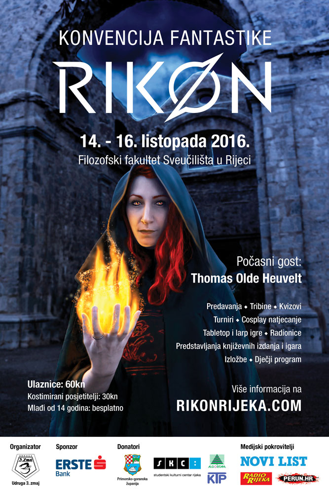 Rikon 2016 poster featuring a Kastav witch