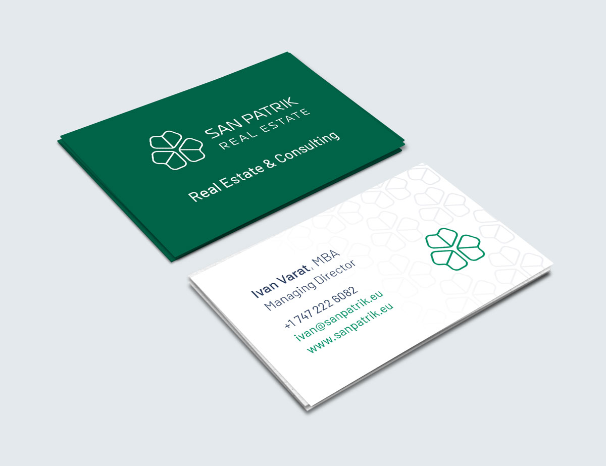Real Estate Agency Brand Identity Design - Business Card