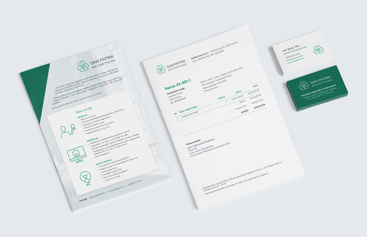 Real Estate Agency Brand Identity Design - Stationery and Promo Flyer