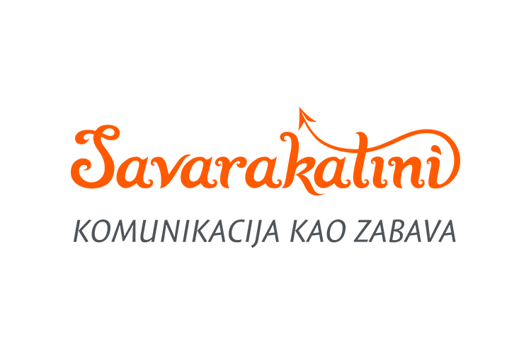 Savarakatini hand lettered logo design with tagline