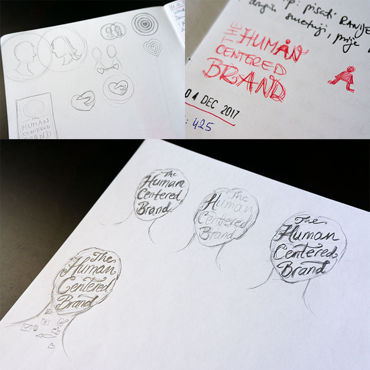 The Human Centered Brand cover sketches