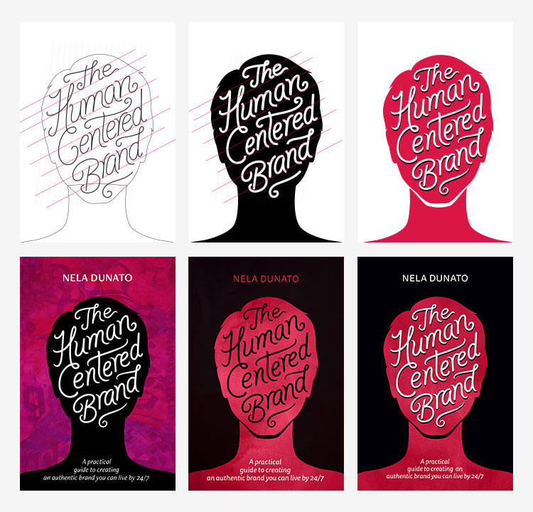 The Human Centered Brand book cover design process