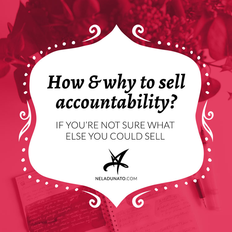 How & why to sell accountability?