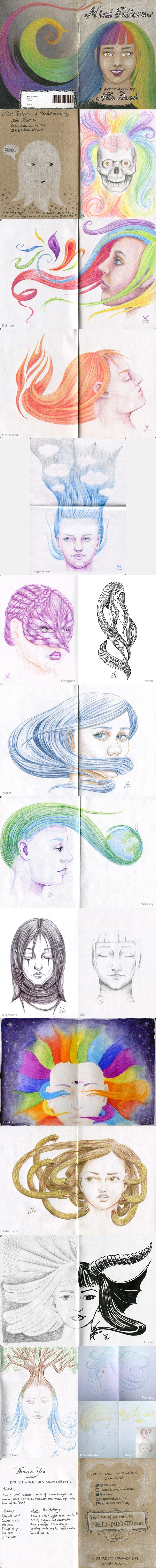Mind Patterns - The Sketchbook Project 2013 by Nela Dunato