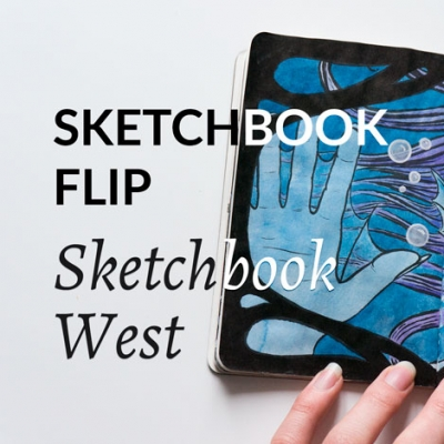 Sketchbook flip video: Sketchbook West art show