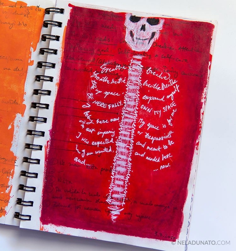 Sketchbook page – Breathe