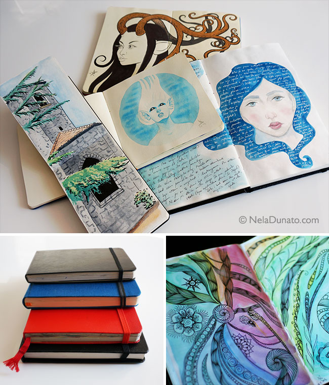 Collection of sketchbooks