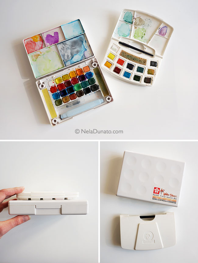 My watercolor sketching kits - Sakura Koi Field Sketch Set and Van Gogh Pocket Box