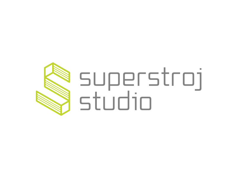 Superstroj studio logo & brand identity design