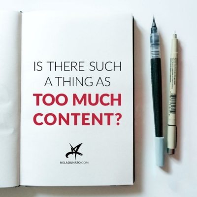 "Is there such a thing as ""too much content""?"