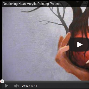 "Painting process video: The making of ""Nourishing Heart"""