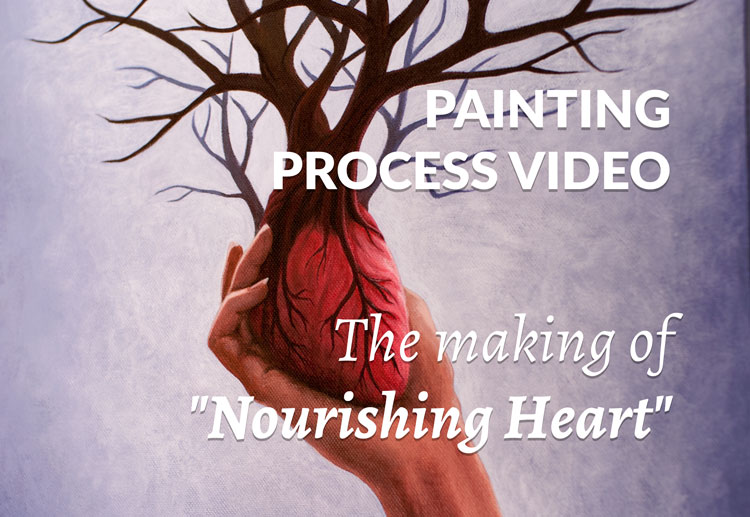 Painting process video - The making of Nourishing Heart