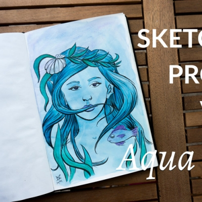 Sketchbook adventures: Aqua Ladies sketching process video