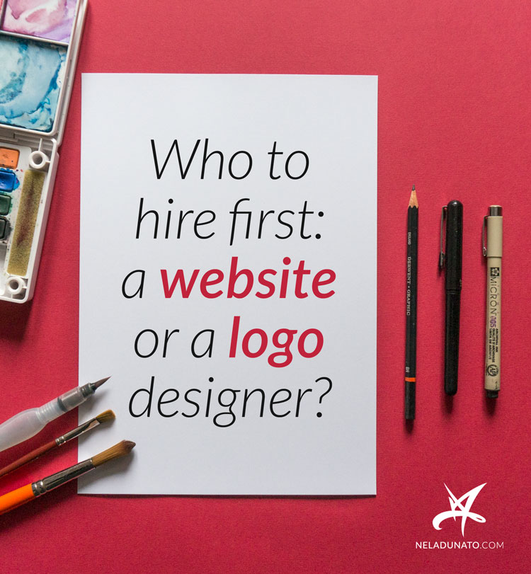 Who to hire first: a website or a logo designer?