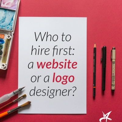 Who to hire first: a web designer or a logo designer?