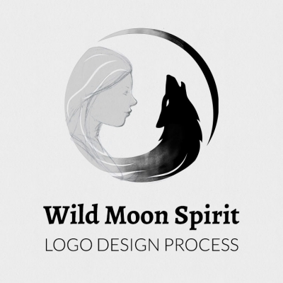 Case study: Wild Moon Spirit logo design process