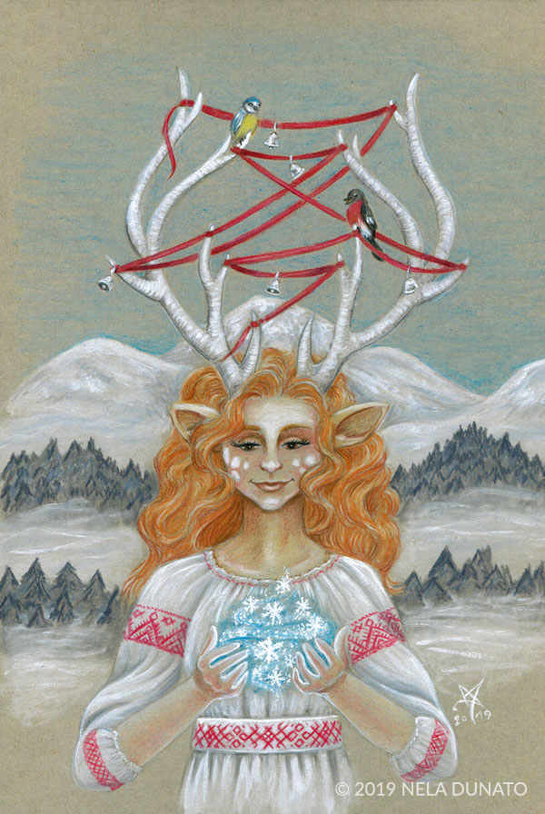 Winter Fairy drawing by Nela Dunato