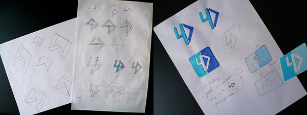 Rough logo sketches