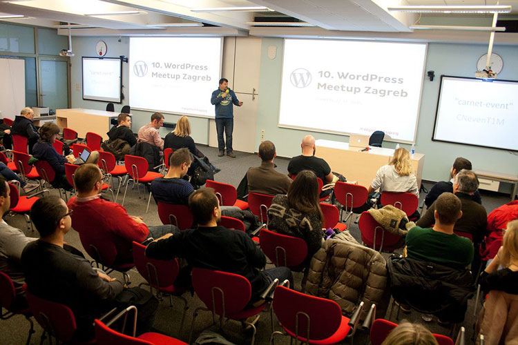 Host of the 10th WordPress Meetup Zagreb, Emanuel Blagonić